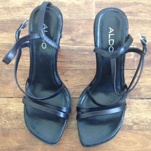 "Aldo - Black ""Lopez"" High Heel Strappy Sandals"